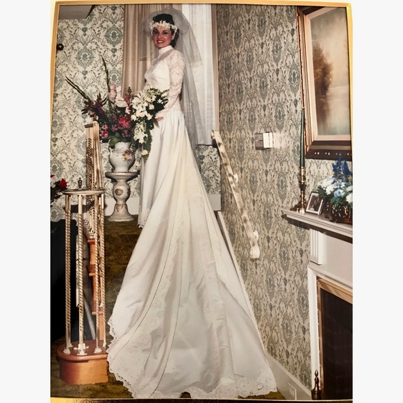 Vintage Dresses Custom Pristine 1981 Italian Made Wedding Gown Md